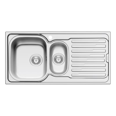 Lavello incasso Amaltia L 100 x P  50 cm 1 vasca 1/2 SX + gocciolatoio