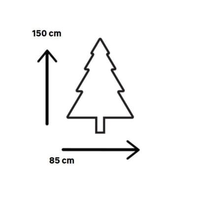 Albero di Natale artificiale Marmolada H 150 cm