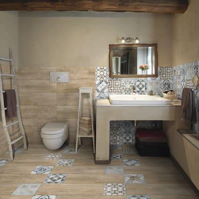 Piastrella villa 20 x 20 cm multicolor prezzi e offerte for Plafoniera bagno leroy merlin