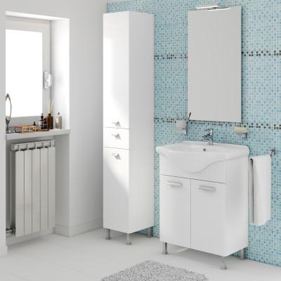 Mobile bagno rimini bianco l 65 cm prezzi e offerte online leroy merlin - Bagno 30 rimini ...
