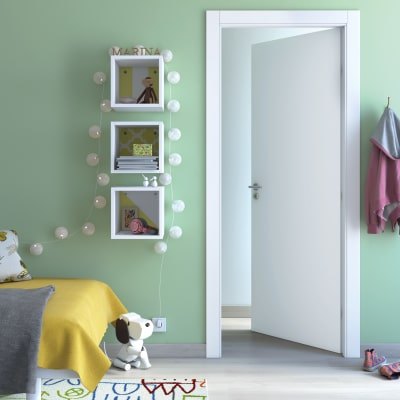 Porta da interno battente cream bianco 70 x h 210 cm for Porte soffietto leroy merlin