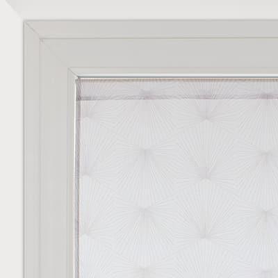 Tendina a vetro per finestra Kita bianco e grigio 60 x 120 cm