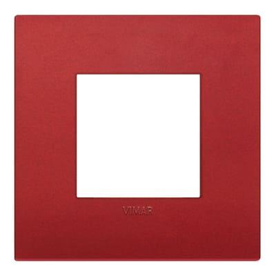 Placca 2 moduli Vimar Arké rosso matt
