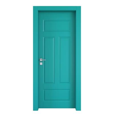 Porta da interno battente Coconut Groove azzurro 60 x H 210 cm dx