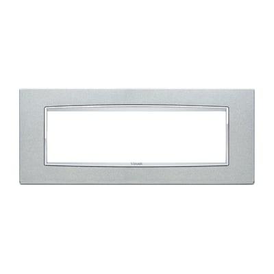 Placca 7 moduli Vimar Eikon argento metal