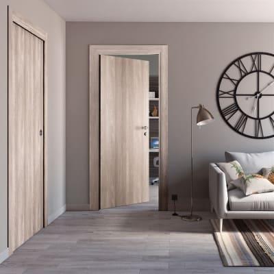 Porta da interno scorrevole Plank 70 x H 210 cm reversibile