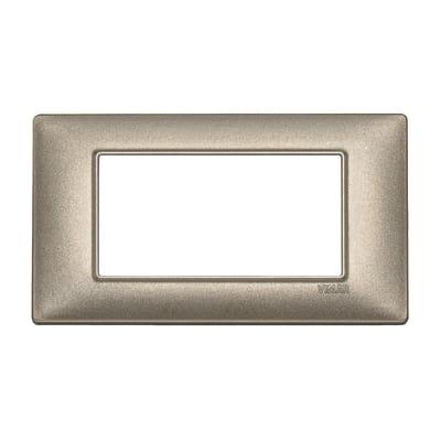Placca 4 moduli Vimar Plana bronzo metallizzato