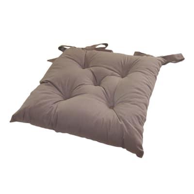 Cuscino per sedia Soft tortora 38 x 38 cm