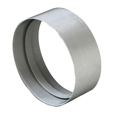 Manicotto raccordo Giunto ABS per tubo aerazione Ø 100 steel Ø 10 cm