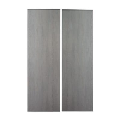 Kit 2 ante Seattle rovere grigio L 120 x H 270 cm