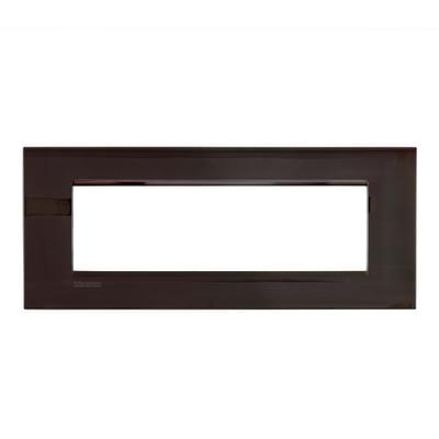 Placca 7 moduli BTicino Livinglight Air peltro