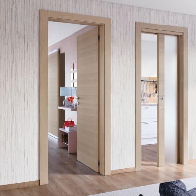 Porta da interno battente Sheraton rovere naturale 80 x H 210 cm reversibile