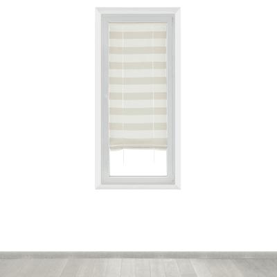 Tendina a vetro regolabile per finestra Molly bianco e beige 58 x 175 cm