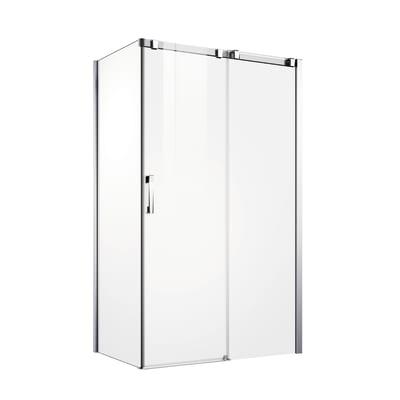 Porta doccia scorrevole Master 112,5-115, H 196 cm vetro temperato 8 mm trasparente/argento lucido