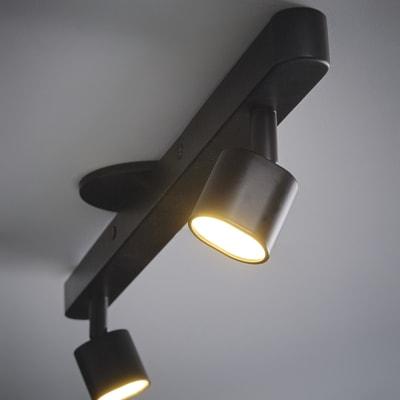 Barra a 2 luci Inspire Flut nero LED integrato