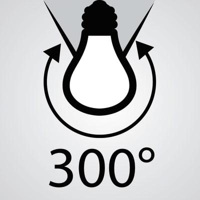 3 lampadine LED Lexman E14 =40W sfera luce naturale 300°