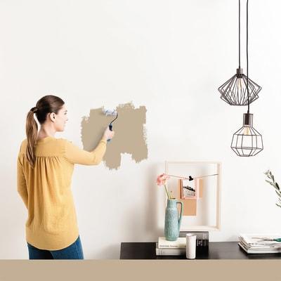 Tester idropittura murale Mano unica Marrone Cioccolato 5 Luxens