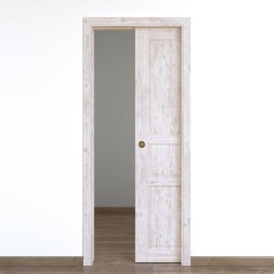 Porta da interno scorrevole Old Town bianco sbiancato 60 x H 210 cm reversibile