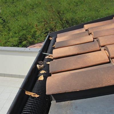 Rete parafoglie per canale di gronda Levex tube in plastica L 1 m