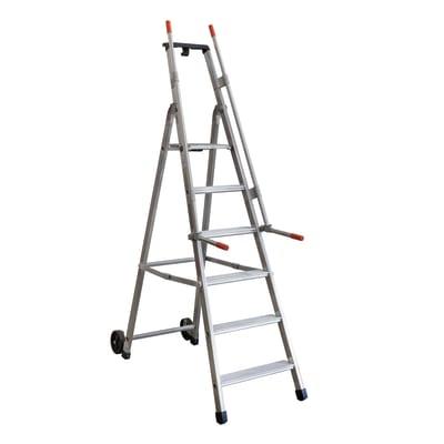Scala doppia alluminio Facal 6 gradini, per lavori fino a 3,16 m