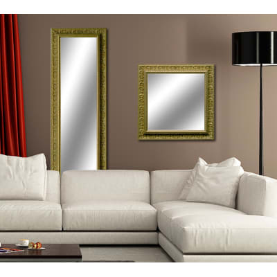 Specchio da parete rettangolare venere oro 60 x 145 cm - Specchio rettangolare da parete ...
