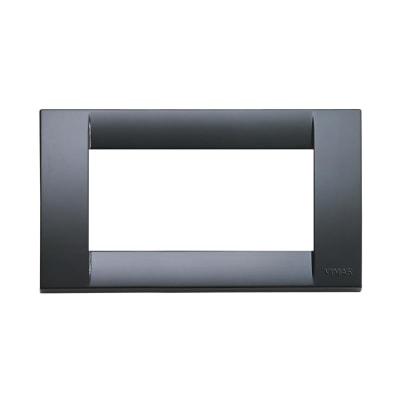 Placca 4 moduli Vimar Idea grigio grafite