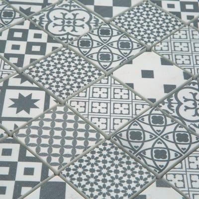 Mosaico Cementina 30 x 30 cm bianco, grigio