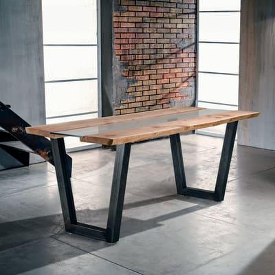 Tavolo vertigo legno e vetro l 200 x p 85 x h 80 cm grezzo prezzi e offerte online leroy merlin - Tavole legno grezzo leroy merlin ...