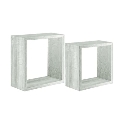 Set 2 cubi Spaceo rovere sbiancato, sp 2,2 cm