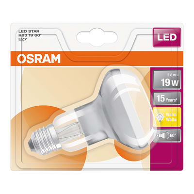 Lampadina LED Osram E27 =19W luce calda 60°