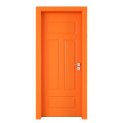Porta da interno battente Coconut Groove arancio 90 x H 210 cm sx