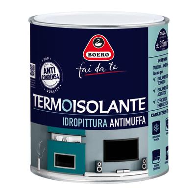 Idropittura antimuffa termoisolante bianca boero 0 75 l for Leroy merlin boero