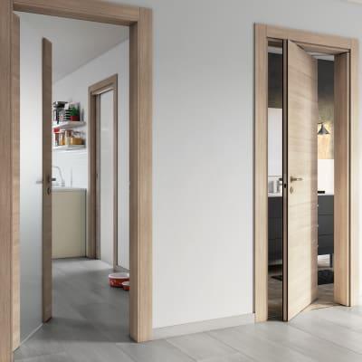 Porta da interno battente Ritz Rosa del deserto 90 x H 210 cm reversibile