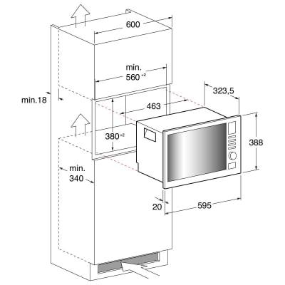 Forno microonde combinato 7 funzioni Indesit MWI 122.2 X