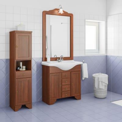 Mobile bagno Laura marrone L 83 cm
