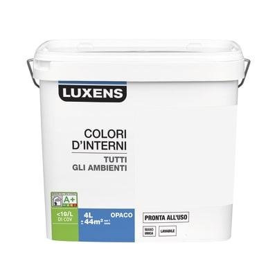 Idropittura lavabile Mano unica Marrone Cioccolato 5 - 4 L Luxens