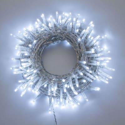 Catena luminosa 180 minilucciole Led bianca fredda 17,1 m