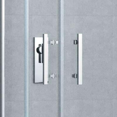 Box doccia scorrevole Elyt 67-70 x 117-120, H 190 cm cristallo 6 mm trasparente/cromo