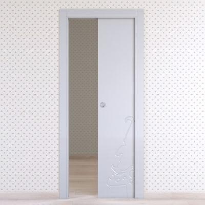 Porta da interno scorrevole Dwarf silk 80 x H 210 cm reversibile
