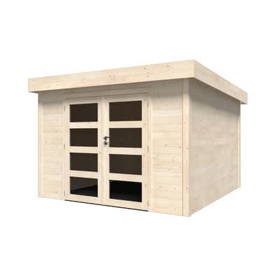 casetta in legno grezzo Oleandro Plus 8,65 m², spessore 28 mm