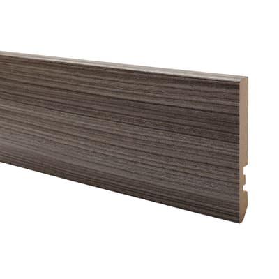 Battiscopa carta finish rivestito palissandro 10 x 80 x 2200 mm