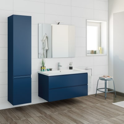 Mobile bagno gola blu navy l 95 cm prezzi e offerte online - Mobili bagno blu ...