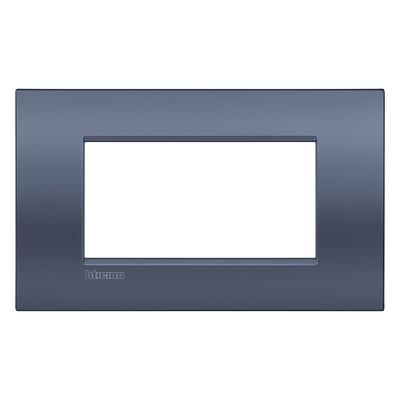 Placca 4 moduli BTicino Livinglight Air blu moon