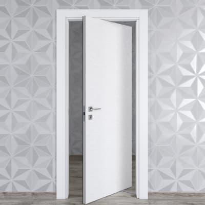 Porta da interno rototraslante Hunk cemento calce 80 x H 210 cm dx