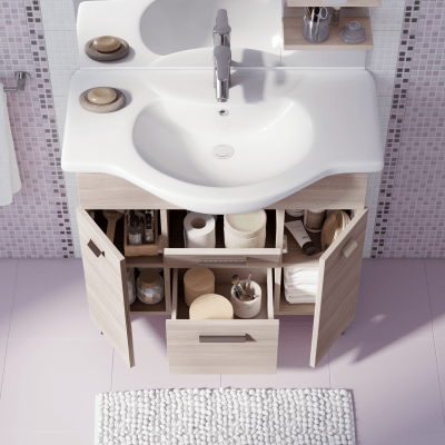 Mobile bagno rimini larice l 85 cm prezzi e offerte online leroy merlin - Mobile bagno leroy merlin ...