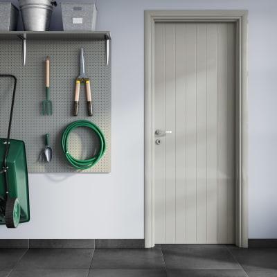 Porta da interno battente Pvc grey grigio 70 x H 210 cm dx