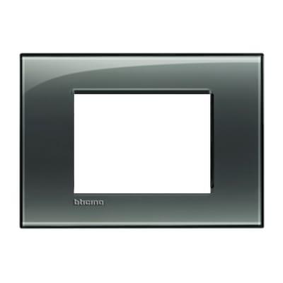 Placca 3 moduli BTicino Livinglight fumo di londra