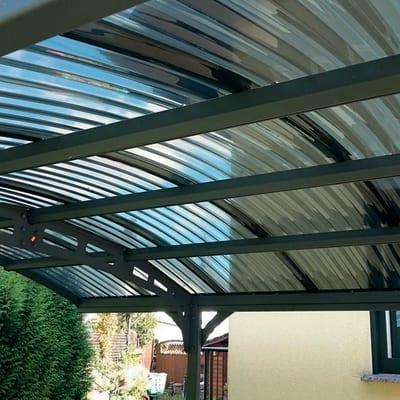 Carport Lucca copertura trasparente 4,95 x 2,88 m