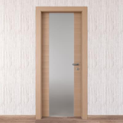 Porta da interno battente Sheraton rovere naturale 90 x H 210 cm sx