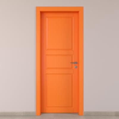 Porta da interno battente New York arancio 80 x H 210 cm sx